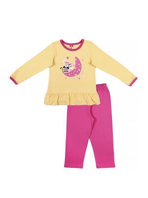 Пижама для девочки Cherubino. Цвет: желтый, фуксия