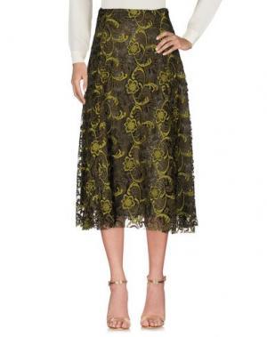 Длинная юбка TENAX. Цвет: зеленый-милитари