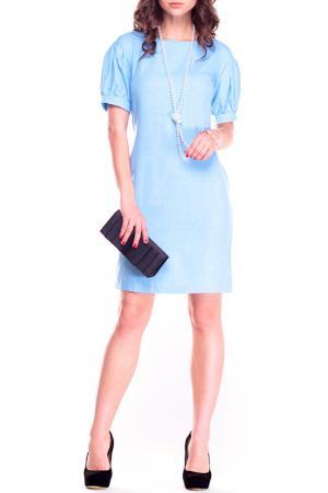 Платье MAURINI. Цвет: голубой