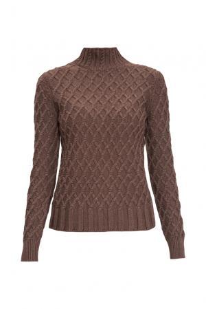 Джемпер из шелка с кашемиром 136702 Sweet Sweaters. Цвет: коричневый