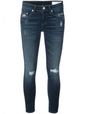 Укороченные джинсы Rag & Bone /Jean. Цвет: синий