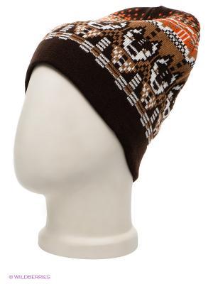 Шапка Maxval. Цвет: коричневый, темно-коричневый, белый, оранжевый
