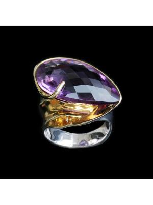 Кольцо Диковинка. Цвет: золотистый, серебристый, фиолетовый