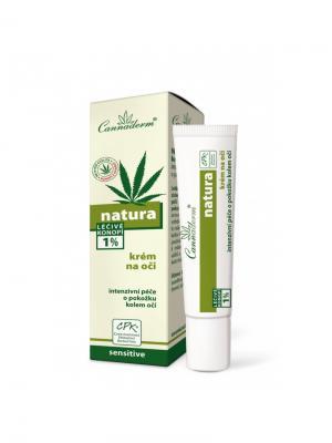 Крем Natura  для ухода за кожей вокруг глаз 15 мл. Cannaderm. Цвет: белый, зеленый