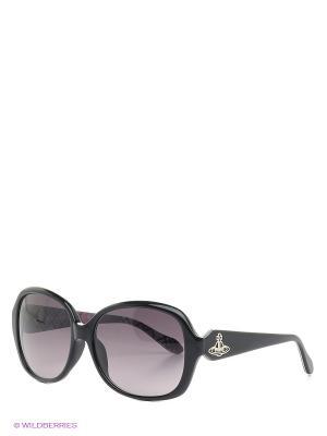 Солнцезащитные очки VW 729 A1 Vivienne Westwood. Цвет: черный