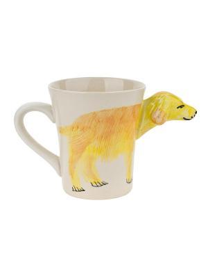Кружка Zoo collection Elff Ceramics. Цвет: желтый