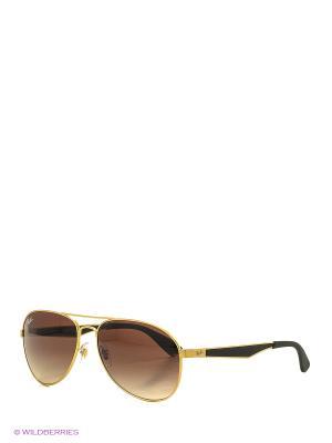 Очки солнцезащитные Ray Ban. Цвет: золотистый