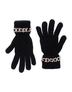 Перчатки BLUGIRL BLUMARINE. Цвет: черный