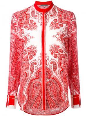 Рубашка с принтом пейсли Alexander McQueen. Цвет: красный