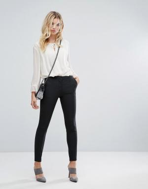 Selected Укороченные брюки с молниями. Цвет: серый