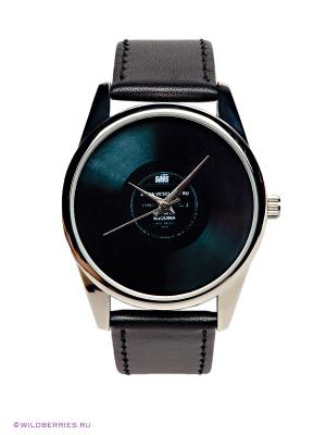 Часы Пластинка Mitya Veselkov. Цвет: антрацитовый