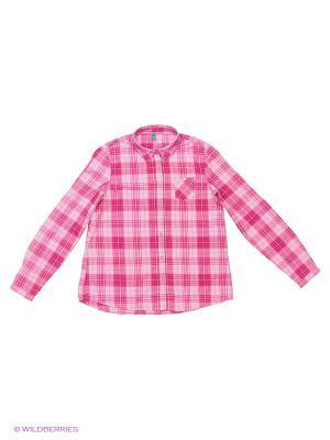 Рубашка United Colors of Benetton. Цвет: сиреневый, кремовый, белый