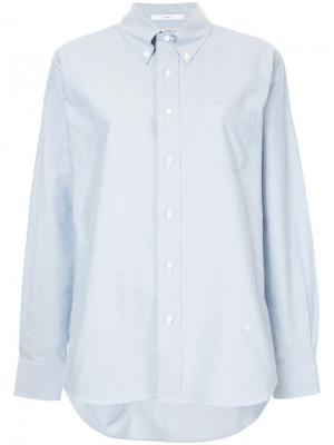 Рубашка со складкой сзади Astraet. Цвет: синий