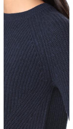 Scalloped Cashmere Shaker Sweater Autumn
