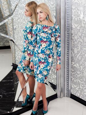 Платье Lussotico. Цвет: голубой