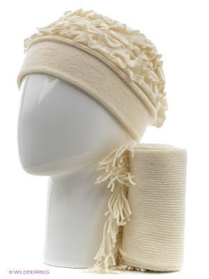 Шапка, шарф Vittorio Richi. Цвет: белый