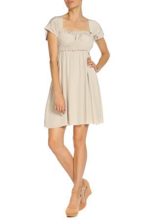 Платье P.A.R.O.S.H.. Цвет: бежевый