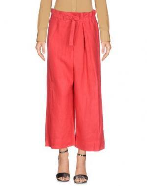 Повседневные брюки ROSSO35. Цвет: коралловый