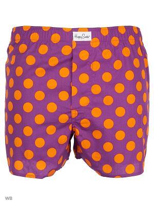 Трусы Happy Socks. Цвет: оранжевый, фиолетовый