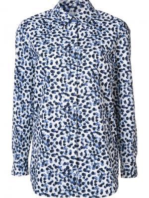 Рубашка с пятнистым принтом Lafayette 148. Цвет: белый