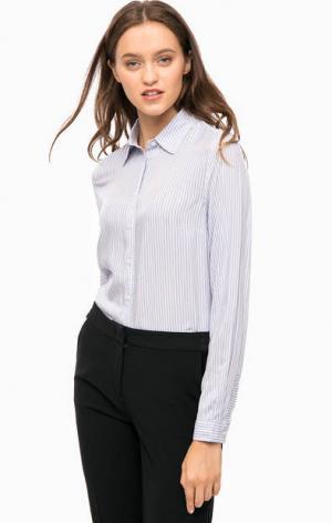 Рубашка из вискозы в полоску olsen. Цвет: синий