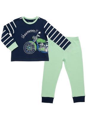 Пижама CHICCO. Цвет: синий, зеленый
