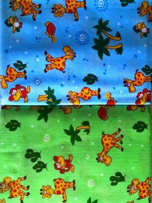 Пеленки фланелевые, набор 4 шт., 75х100см. Letto. Цвет: голубой,желтый,зеленый
