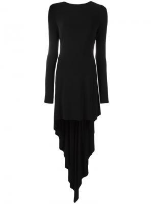 Асимметричное платье Antonio Berardi. Цвет: чёрный