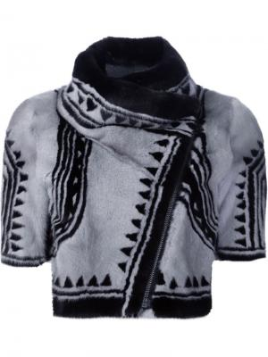 Укороченная байкерская куртка Geo Yigal Azrouel. Цвет: чёрный