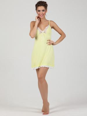 Ночная сорочка NicClub. Цвет: желтый
