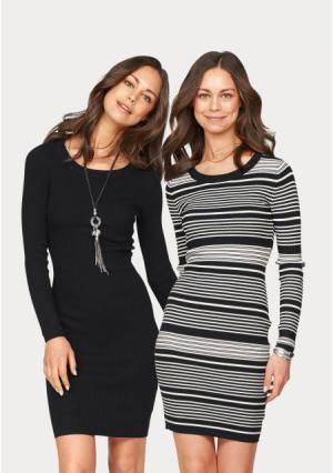 Платье, 2 штуки Flashlights. Цвет: черный/белый+черный