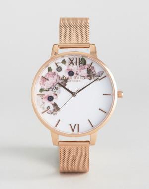 Olivia Burton Часы цвета розового золота Winter Garden. Цвет: золотой