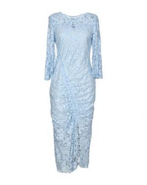 Платье длиной 3/4 TENAX. Цвет: небесно-голубой
