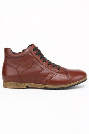 Ботинки West Club. Цвет: коричневый