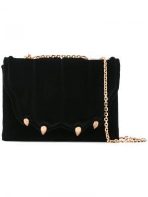 Декорированная сумка через плечо Marco De Vincenzo. Цвет: чёрный