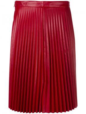 Плиссированная юбка Red Valentino. Цвет: красный