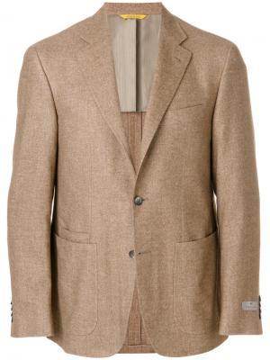 Классический блейзер Canali. Цвет: коричневый