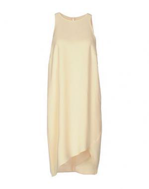Платье до колена NANUSHKA. Цвет: светло-желтый