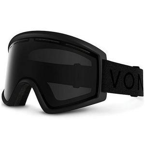 Маска для сноуборда  Cleaver Black Satin/Blackout Von Zipper. Цвет: черный