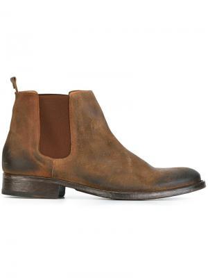 Ботинки Челси Officer Htc Hollywood Trading Company. Цвет: коричневый