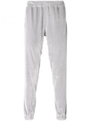 Бархатные спортивные брюки Astrid Andersen. Цвет: серый