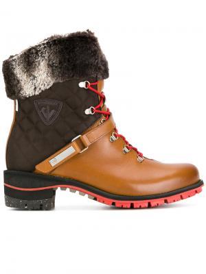 Ботинки Megeve на шнуровке Rossignol. Цвет: коричневый