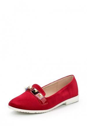 Лоферы Y & L. Цвет: красный