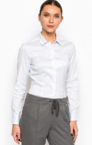 Классическая хлопковая рубашка с длинными рукавами Cinque. Цвет: голубой