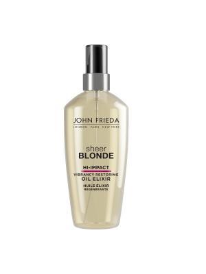 Масло эликсир для восстановления сильно поврежденных волос Sheer Blonde Hi Impact, 100 мл John Frieda. Цвет: прозрачный