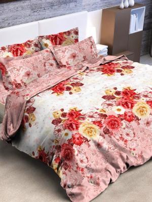 Комплект постельного белья, 2,0-сп Letto. Цвет: розовый, желтый, красный