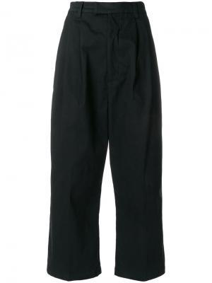 Укороченные широкие брюки P.A.M.. Цвет: чёрный