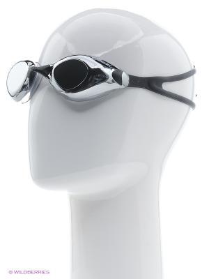 Очки для плавания Speedo. Цвет: черный, серый