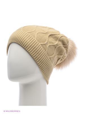 Колибри Беркле шапка женская с помпоном Berkle. Цвет: бежевый