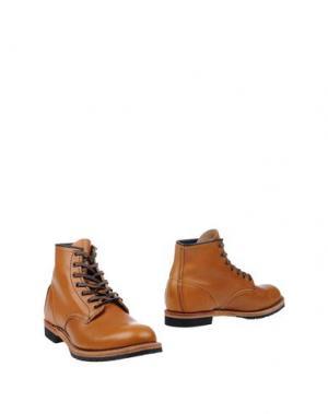Полусапоги и высокие ботинки RED WING SHOES. Цвет: желто-коричневый